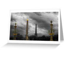Paris Columns Greeting Card