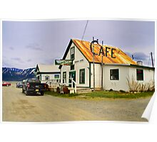 Old Cafe Hope Alaska Poster