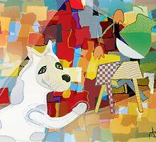 Bad Dog Cubism by mydeas