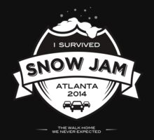 Snow Jam Atlanta 2014 T-Shirt (on Black) by tomlaw