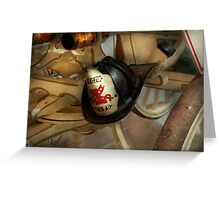 Firefighter - Somewhere to hang hat  Greeting Card
