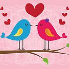 Birds in Love by arlain