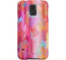 Colorful painted chevron pattern Samsung Galaxy Case/Skin
