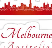 Melbourne skyline in red Sticker