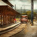 Train - Boarding the Scranton Trolley by Mike  Savad