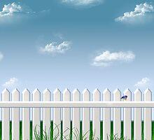 The Garden Fence by BonniePhantasm