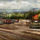 Train - The train graveyard by Mike  Savad
