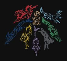Eevee Evolution Tribal Print Color by everlander