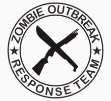 ZOMBIE OUTBREAk RESPONSE TEAM gun & Machete by thatstickerguy