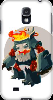 Burning Wood Man by skarmanami