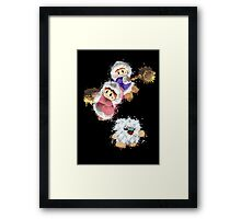 Abstract Ice Climber Duo Framed Print