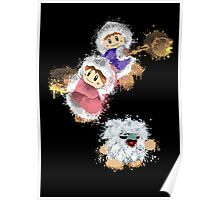 Abstract Ice Climber Duo Poster