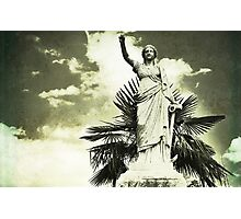 She stands tall holding her anchor Photographic Print