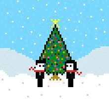Pixel Love Christmas by Joseph Uzzo