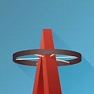 Minimalist Angels Stadium - Anaheim (no text) by pootpoot
