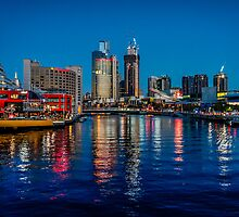 Melbourne On The Yarra by Russell Charters