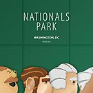 Minimalist Nationals Park - Washington by pootpoot