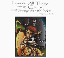 David & Lion (I can do All Things through Christ) by TRUTHMANSHIRTS