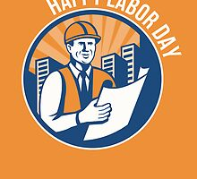 Labor Day Celebration Poster Retro by patrimonio