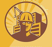 Our Fellow Workers Labor Day Poster Retro by patrimonio