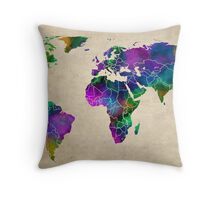 MAP of the WORLD ANTIQUE Throw Pillow