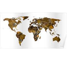 MAP of the WORLD SEPIA TONED Poster