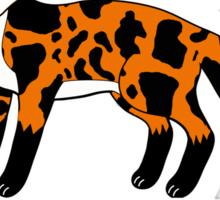 Cow + Fox = Cox (alphabet book style) Sticker