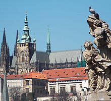 Prague Castle (taken from Charles Bridge) by CTBDesigns