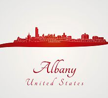 Albany skyline in red by paulrommer
