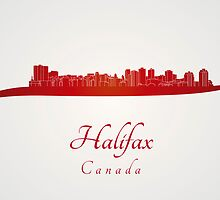 Halifax skyline in red by Pablo Romero
