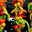 Creative with peppers by Arie Koene