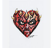 Darth Maul Star Wars Hearts Photographic Print
