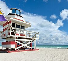 Candy Stripe Lifeguard House by lattapictures