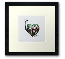 Boba Fett Star Wars Heart Framed Print