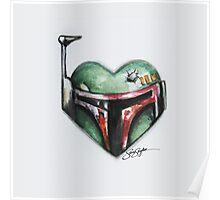 Boba Fett Star Wars Heart Poster