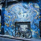 Lone bike in Hosier Lane by djzontheball