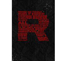 Team Rocket R Typography Photographic Print
