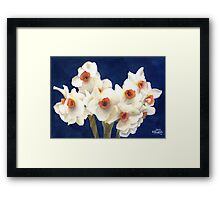 White Bouquet Framed Print