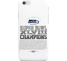 SEAHAWKS CHAMPIONS iPhone Case/Skin
