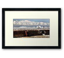The Canoe Pool - Newcastle Beach NSW Australia Framed Print