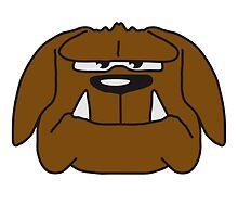 Funny Comic Bulldog Face Design by Style-O-Mat