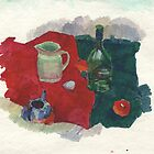 red & green still life by v0ff