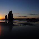 Cannon Beach, Oregon Sunset by Bob Hortman