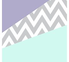 Mint & Purple Chevron Color Block by danibourland