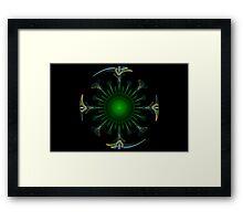 Peacock Mandala Framed Print