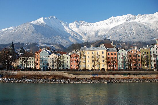 Innsbruck in wintry sunlight by Arie Koene