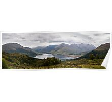 Five Sisters of Kintail - Panorama Poster