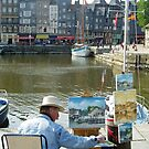 Painting the harbour of Honfleur - France by Arie Koene