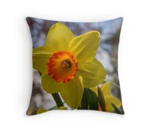 Happy Spring Blossom Throw Pillow