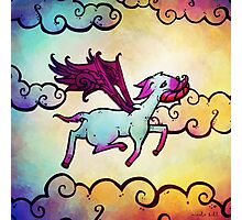 Flying Fawn Photographic Print